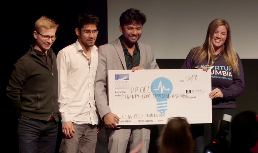 Droice wins grand prize in Columbia Venture